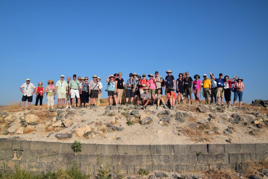 Beth Shean Sept 2019 Israel Tour Group, with John DeLancey