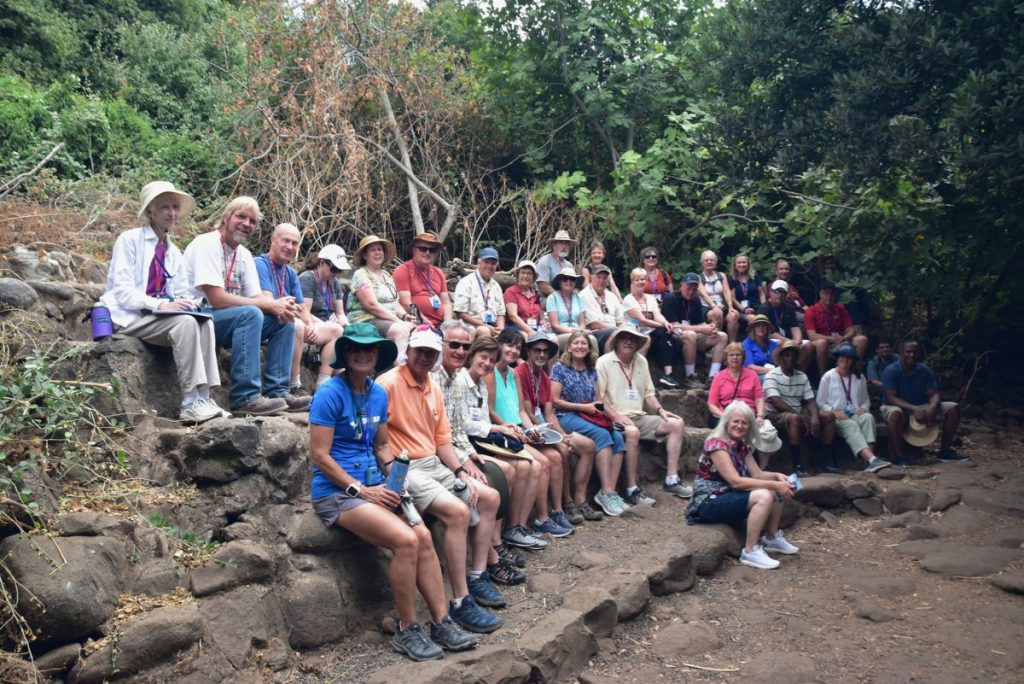 Tel Dan Sept 2019 Israel Tour Group, with John DeLancey