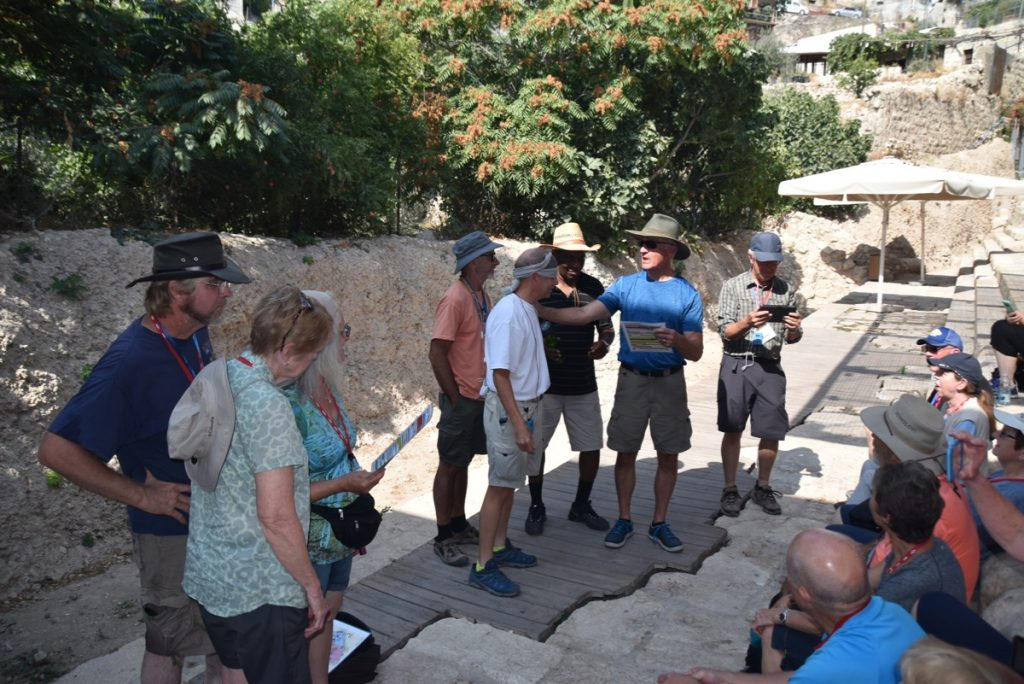 City of David Pool of Siloam Jerusalem Sept 2019 Biblical Israel Tour with John DeLancey