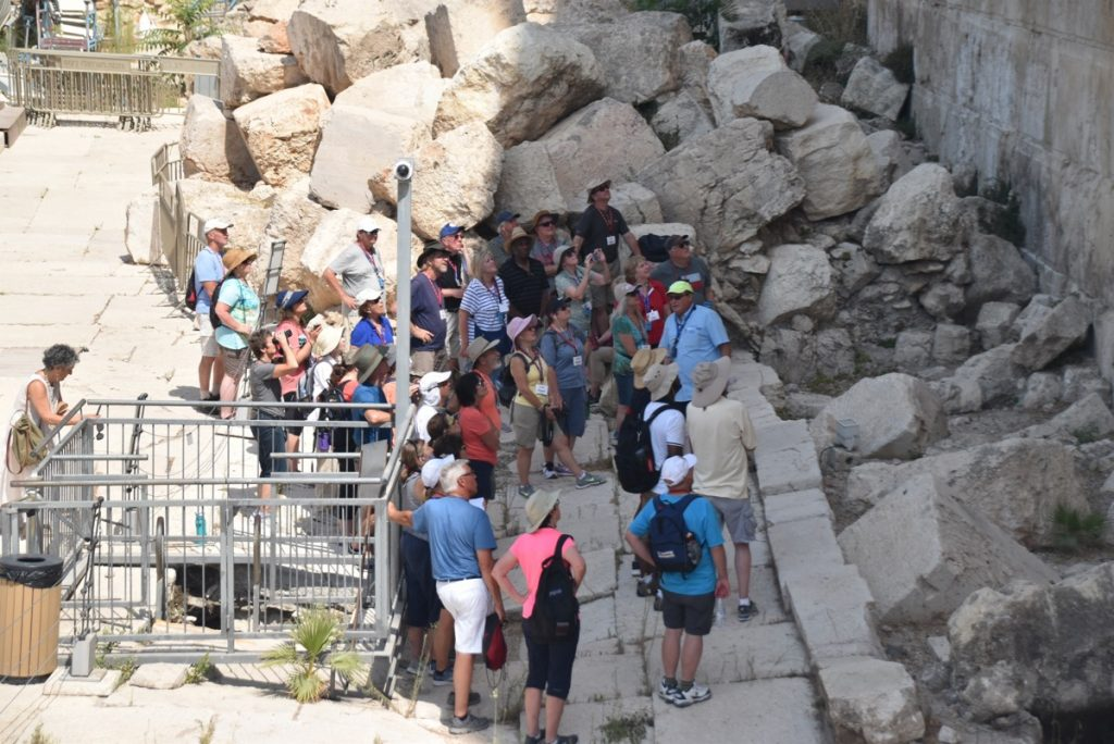 South Wall Jerusalem Sept 2019 Israel Tour Group, with John DeLancey