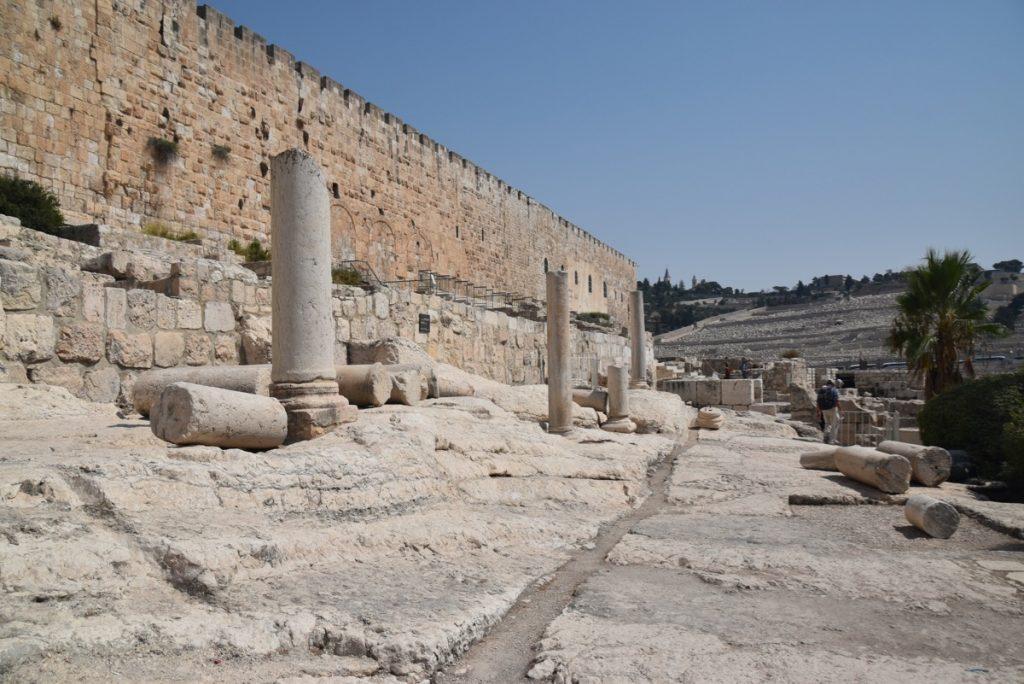 South wall excavations Jerusalem Sept 2019 Biblical Israel Tour with John DeLancey