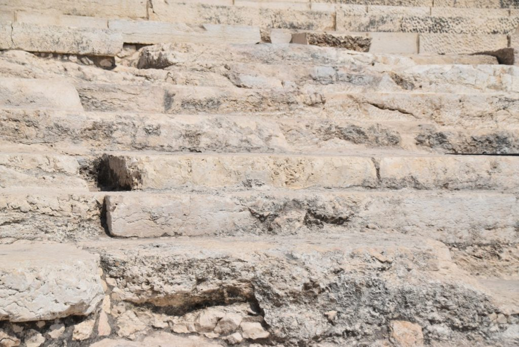 Temple steps Jerusalem Sept 2019 Biblical Israel Tour with John DeLancey