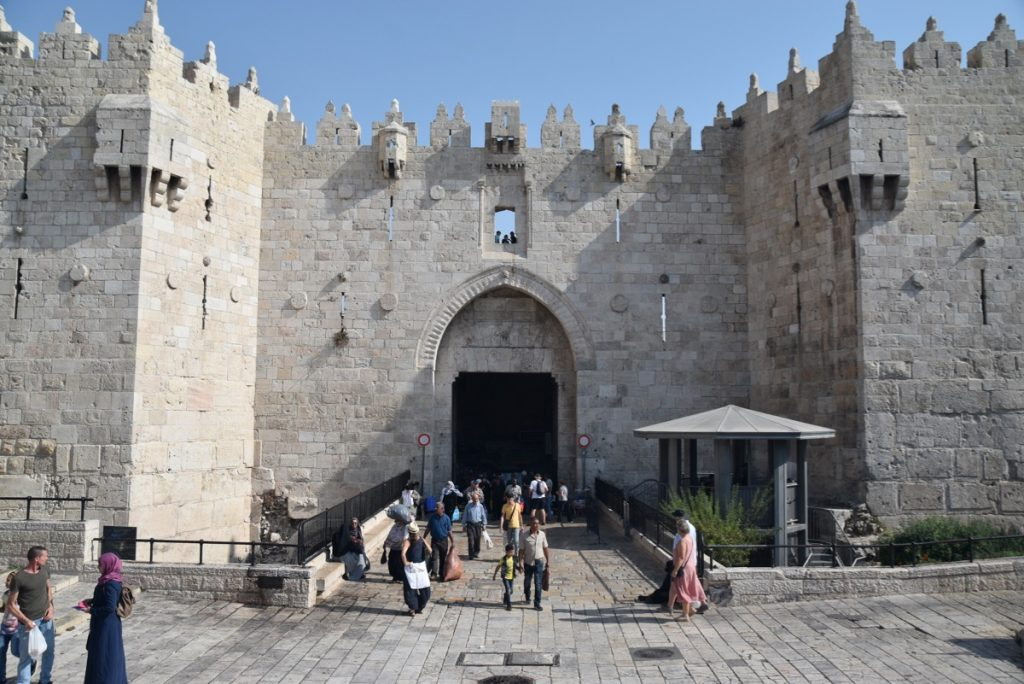 Old City Damascus gate Jerusalem Sept 2019 Biblical Israel Tour with John DeLancey