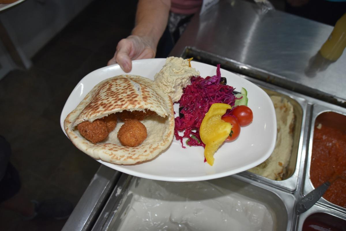 Falafel on Mt. Carmel