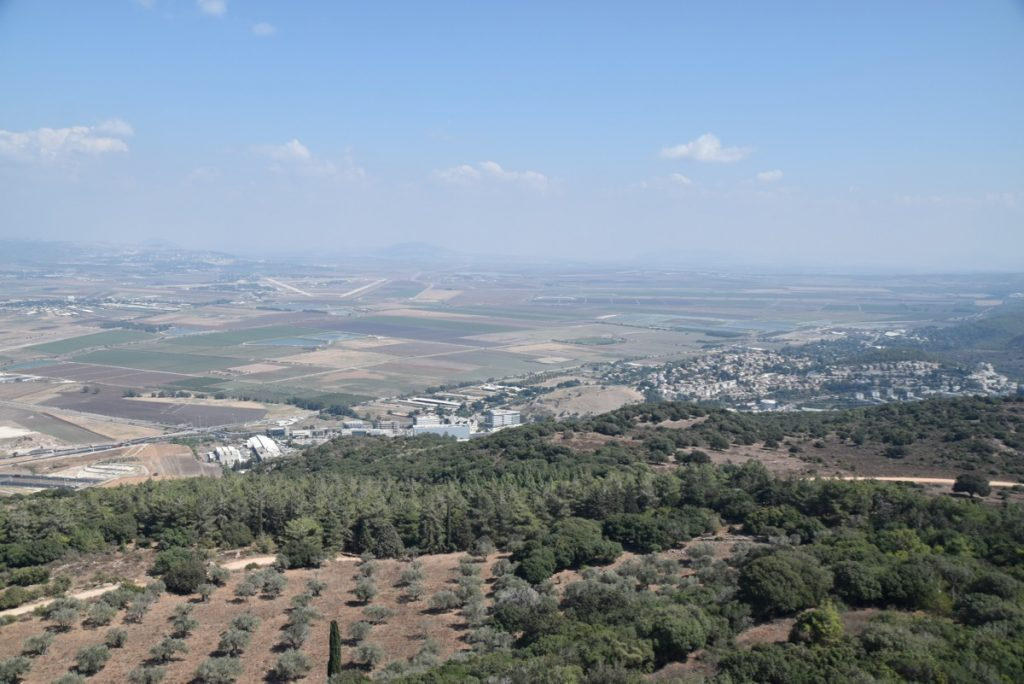 Mt. Carmel Jezreel Valley Sept 2019 Biblical Israel Tour with John DeLancey