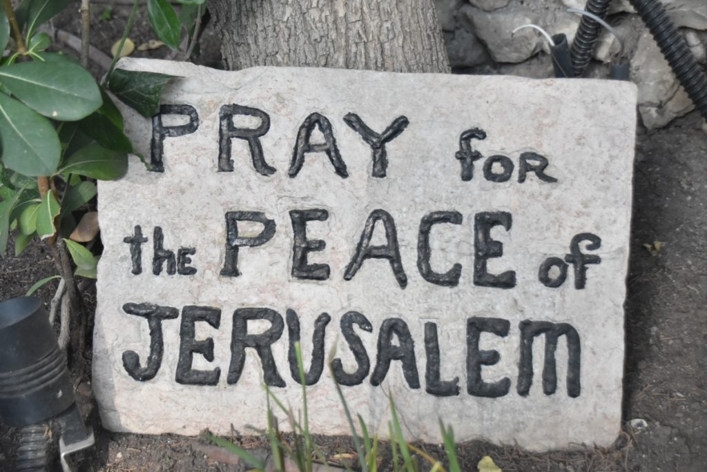 Pray for peace of Jerusalem Jerusalem Sept 2019 Biblical Israel Tour with John DeLancey