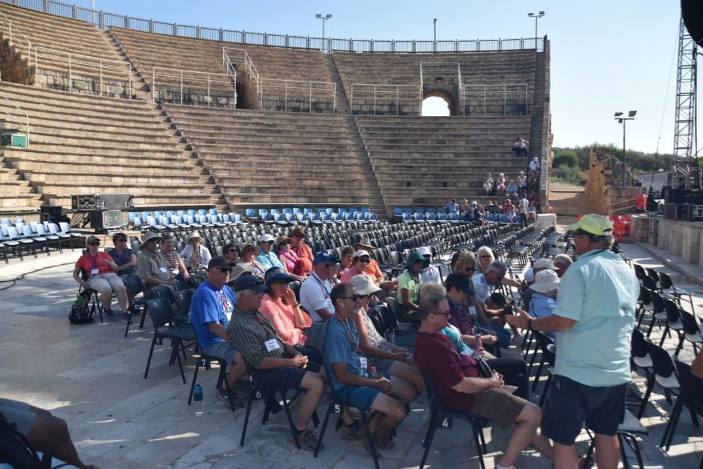 Caesarea Sept 2019 Israel Tour Group, with John DeLancey
