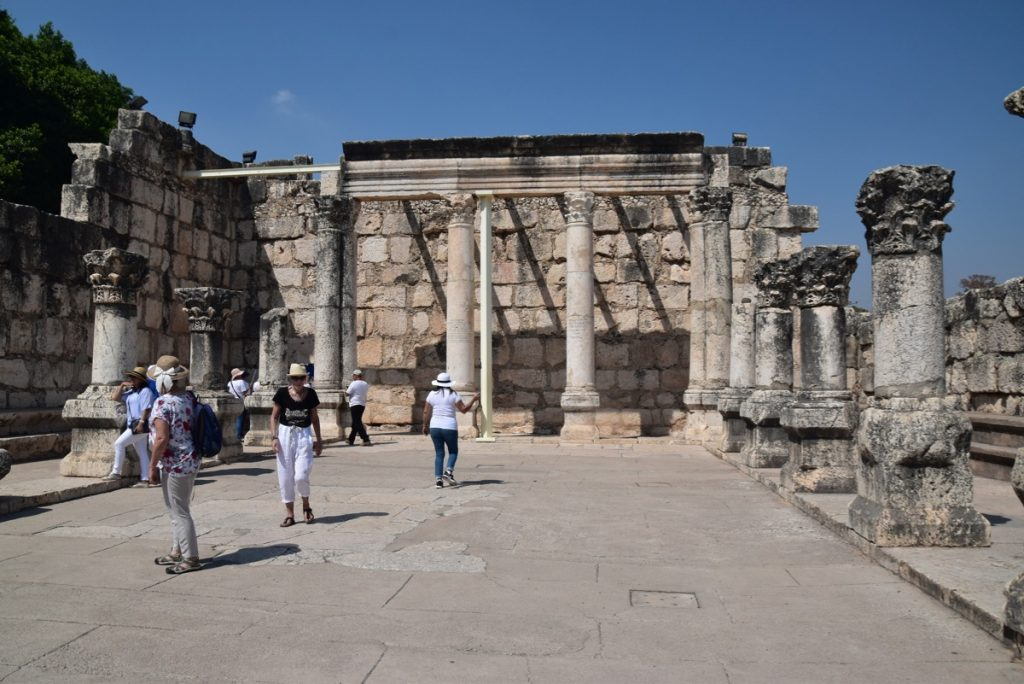 Capernaum Sept 2019 Biblical Israel Tours and John DeLancey