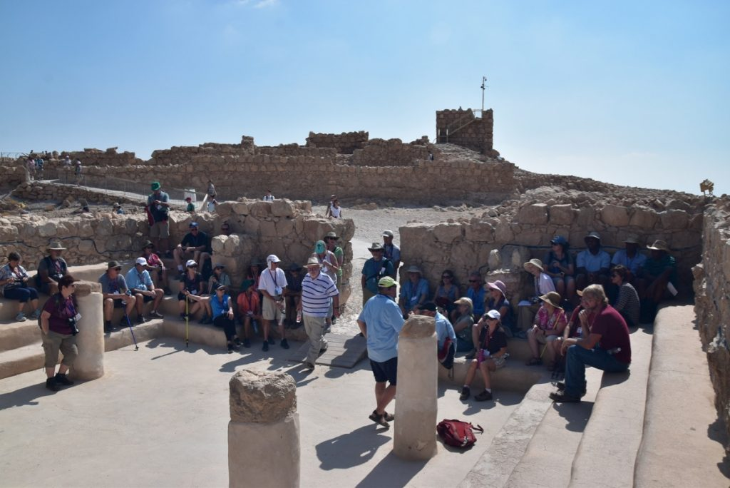 Masada Sept 2019 Israel Tour Group, with John Delancey