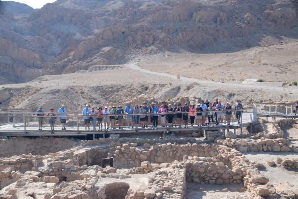 Qumran Sept 2019 Israel Tour Group, with John Delancey