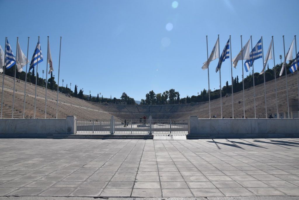 Athens Olympic stadium Greece 2019 Tour with John DeLancey