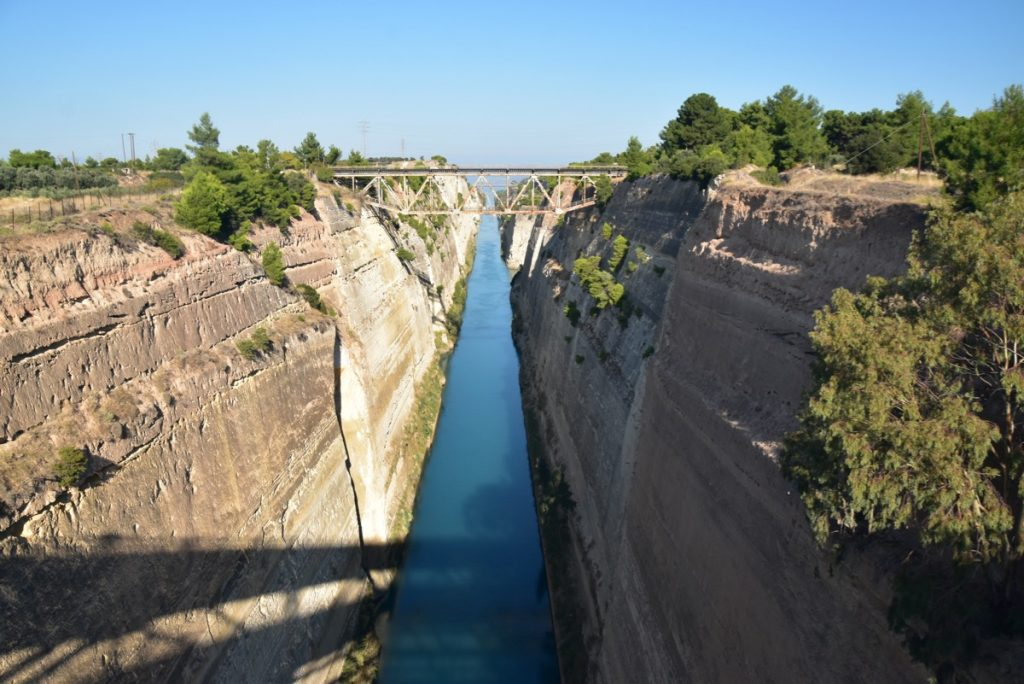 Corinth canal Greece Tour 2019 with John DeLancey and BIMT