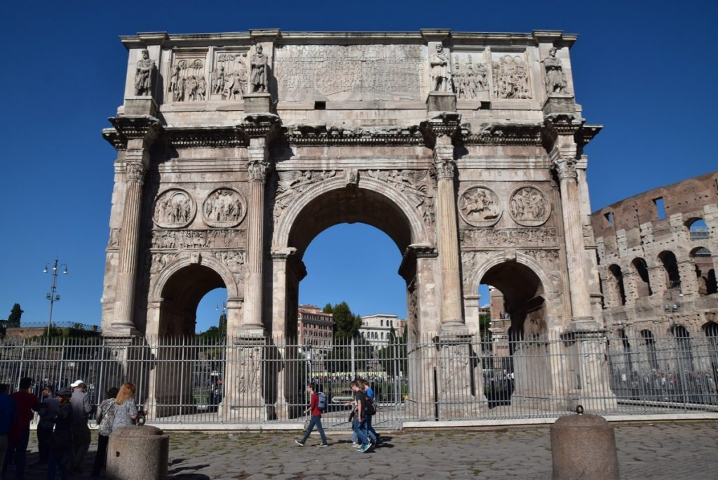 Constantine Arch Rome Greece Tour 2019 with John DeLancey