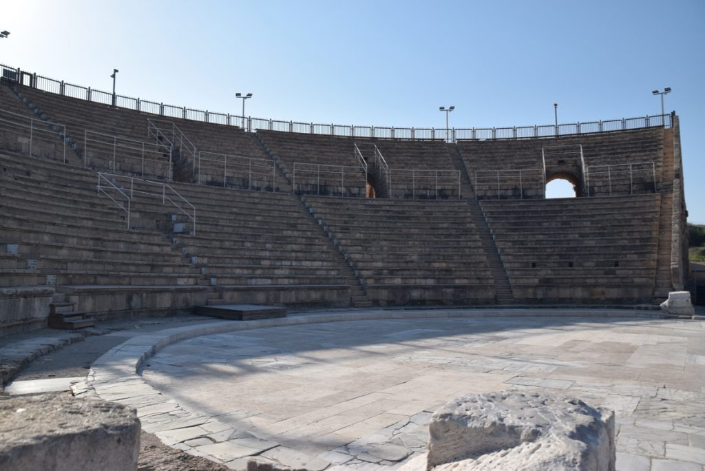 Caesarea Nov 2019 Israel Tour Group, with John DeLancey