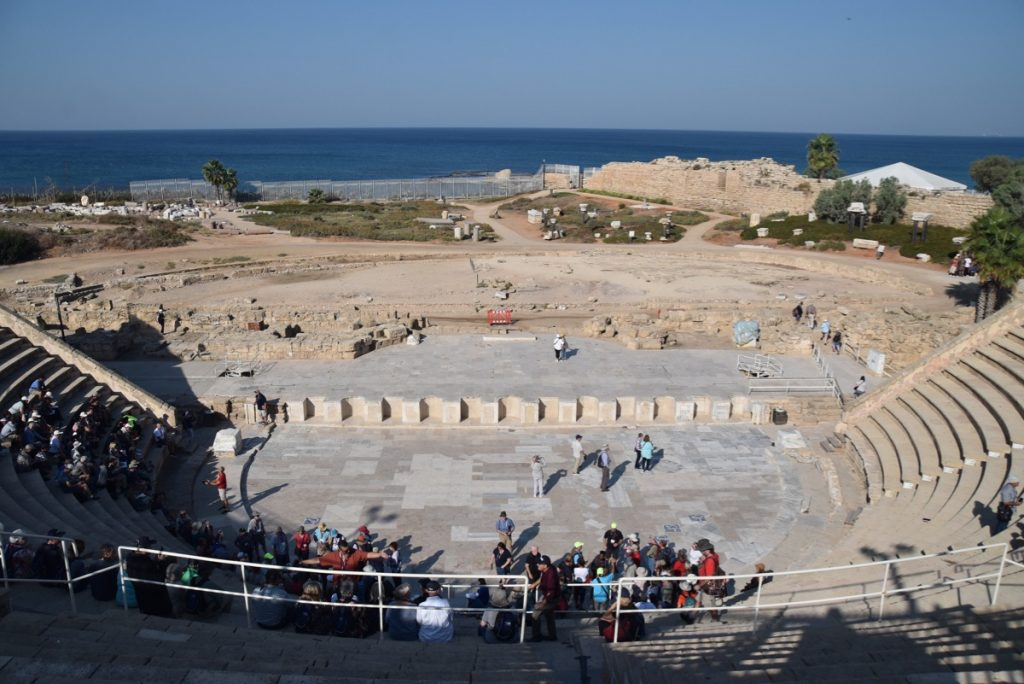 Caesarea Nov 2019 Israel Tour Group, with John DeLancey
