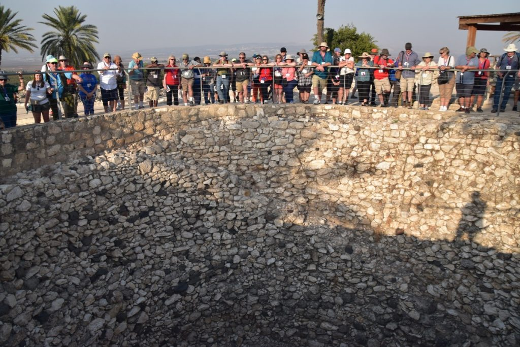 Megiddo Nov 2019 Israel Tour Group, with John DeLancey