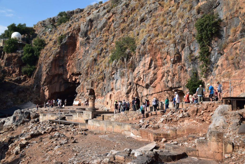 Caesarea Philippi Biblical Israel Tour Nov 2019 with John DeLancey