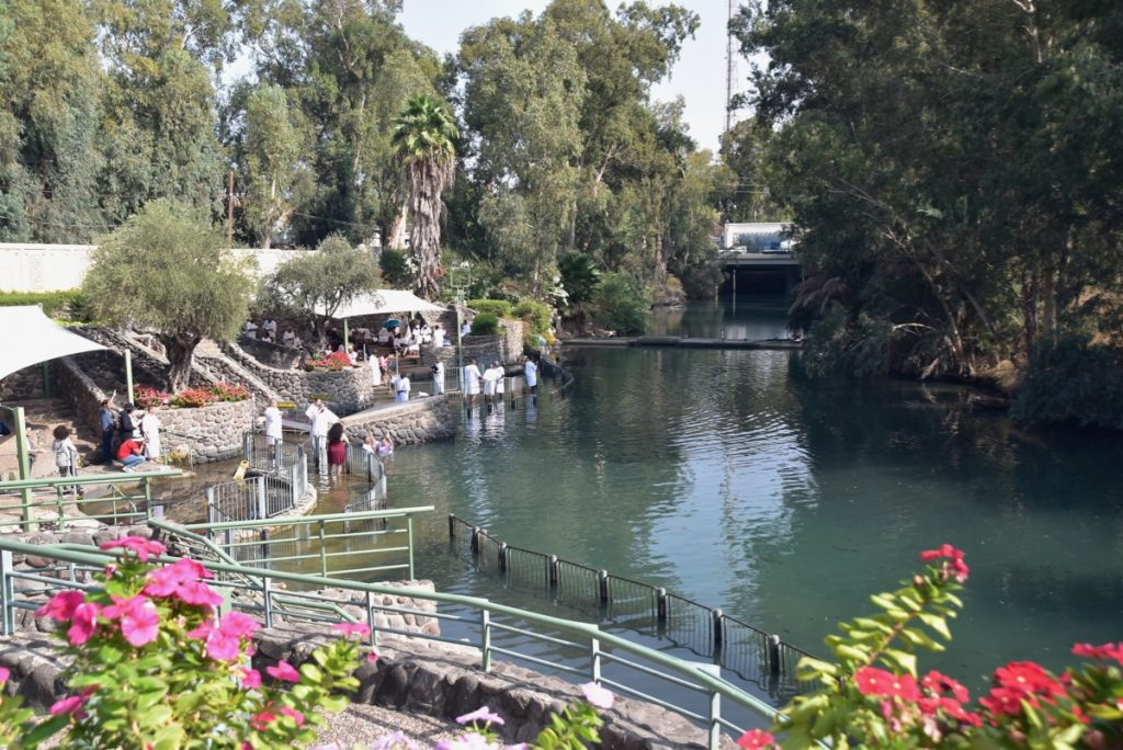 Yardenit Jordan River Baptism November 2019 Biblical Israel Tour with John DeLancey