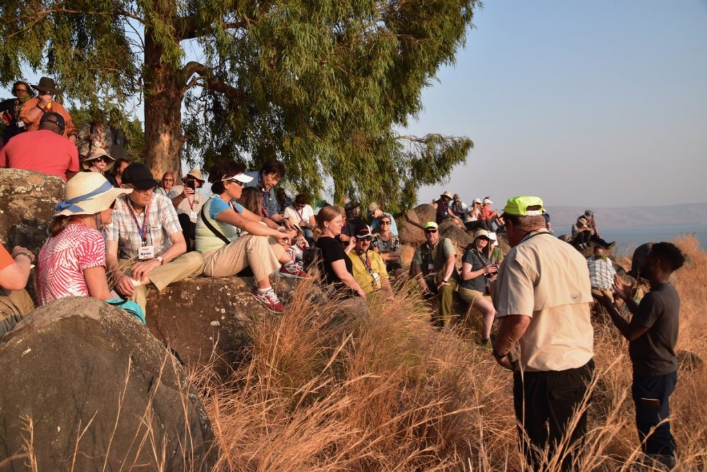 Mt. of Beatitudes Biblical Israel Tours with John DeLancey