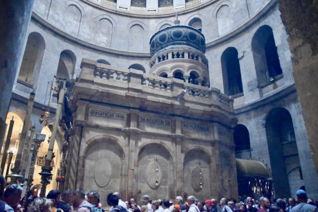 Holy Sepulcher Jerusalem Nov 2019 Biblical Israel Tour with John DeLancey