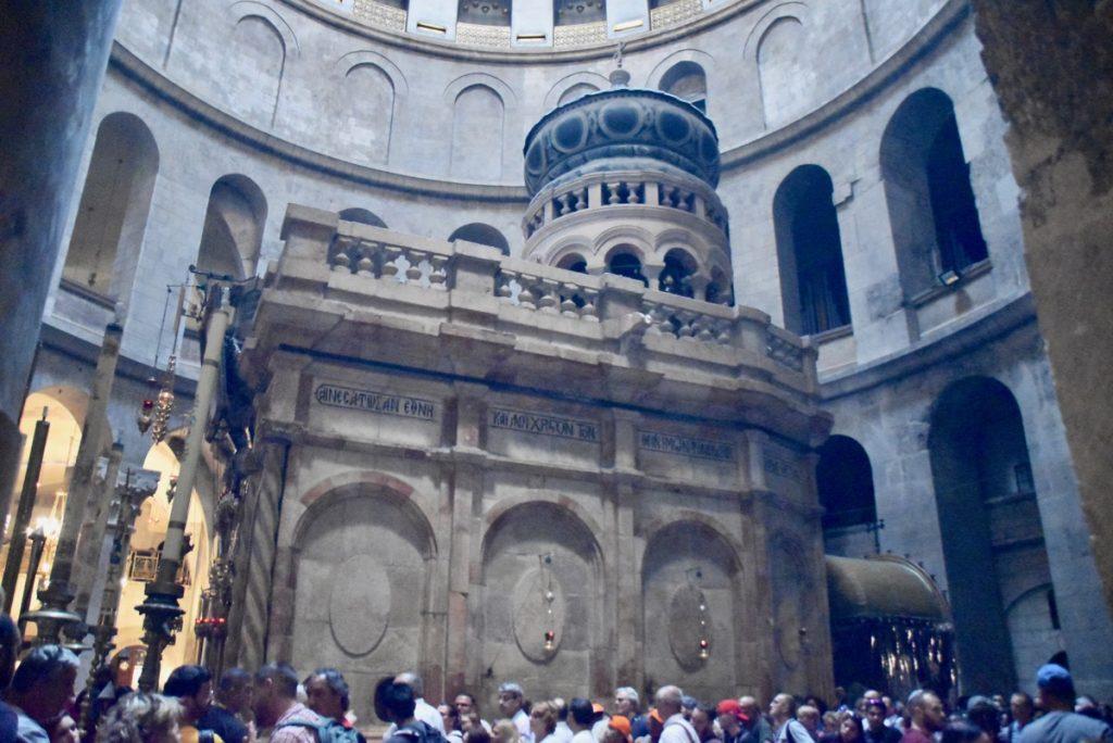 Holy Sepulcher Jerusalem Nov 2019 Biblical Israel Tour with John DeLancey