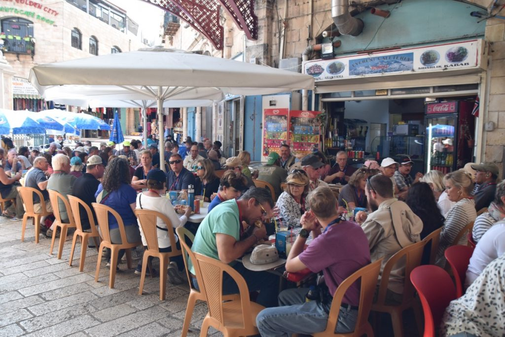 Lunch in Old City of Jerusalem John Delancey Nov 2019 Israel Tour
