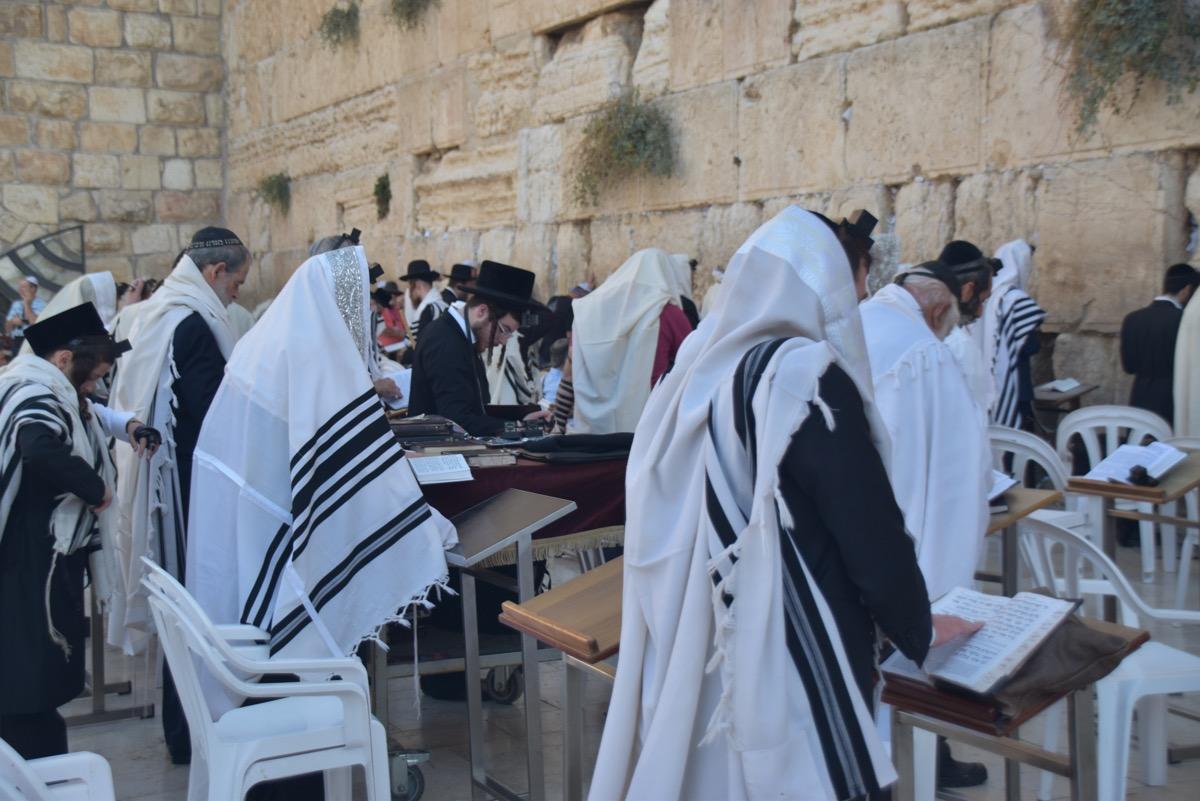 Ultra Orthodox Jew at Western Wall