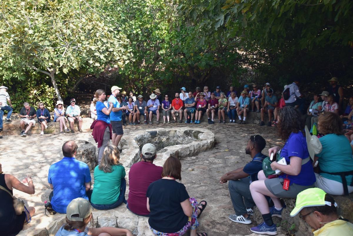 Dr. Phil teaching at Caesarea Philippi