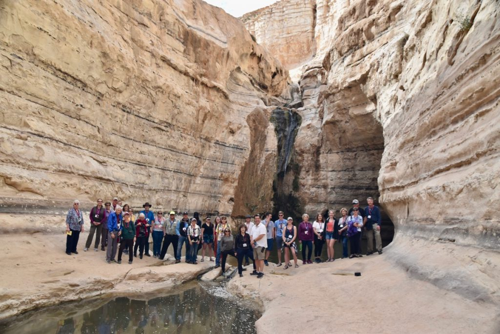 Zin Desert January 2020 Israel Tour Group with John Delancey of Biblical Israel Ministries & Tours