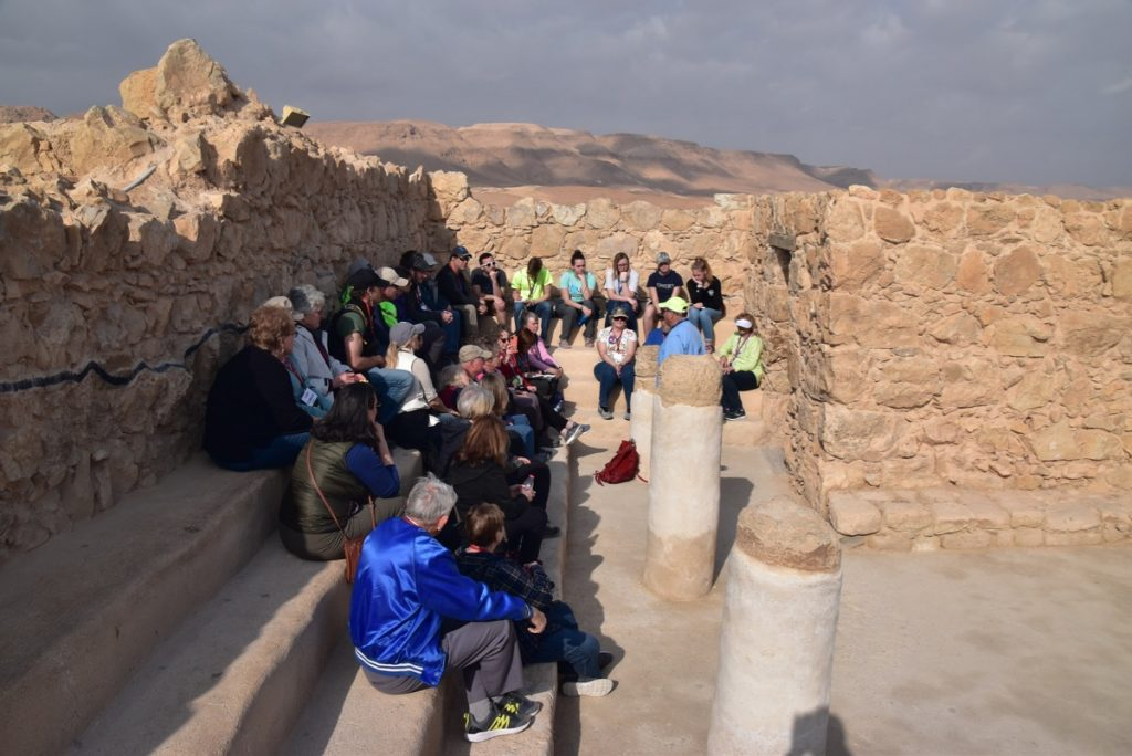 Masada January 2020 Israel Tour Group with John Delancey of Biblical Israel Ministries & Tours