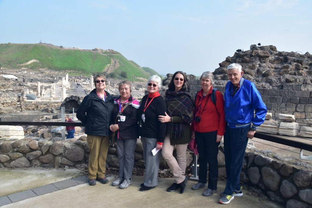 Beth Shean Jan 2020 Tour Group with John DeLancey