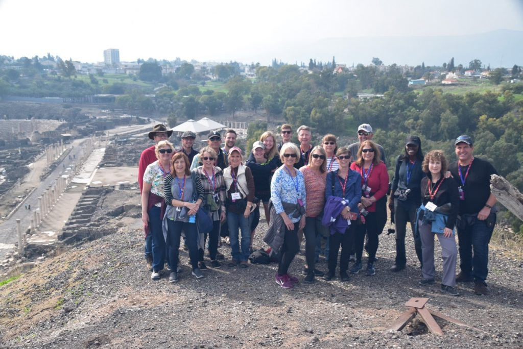 Beth Shean January 2020 Israel Tour Group with John Delancey of Biblical Israel Ministries & Tours