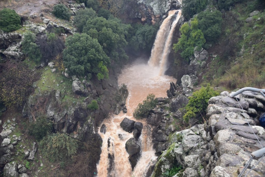 Sa'ar Falls Jan 2020 Israel Tour with John DeLancey BIMT