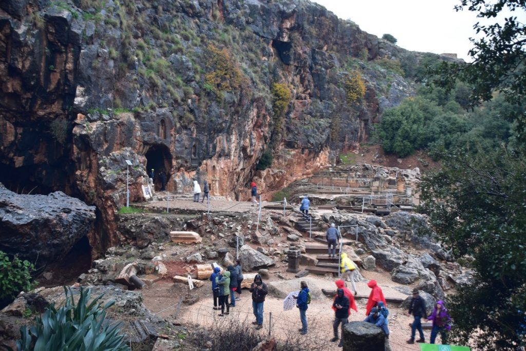 Caesarea Philippi Jan 2020 Israel Tour with John DeLancey BIMT