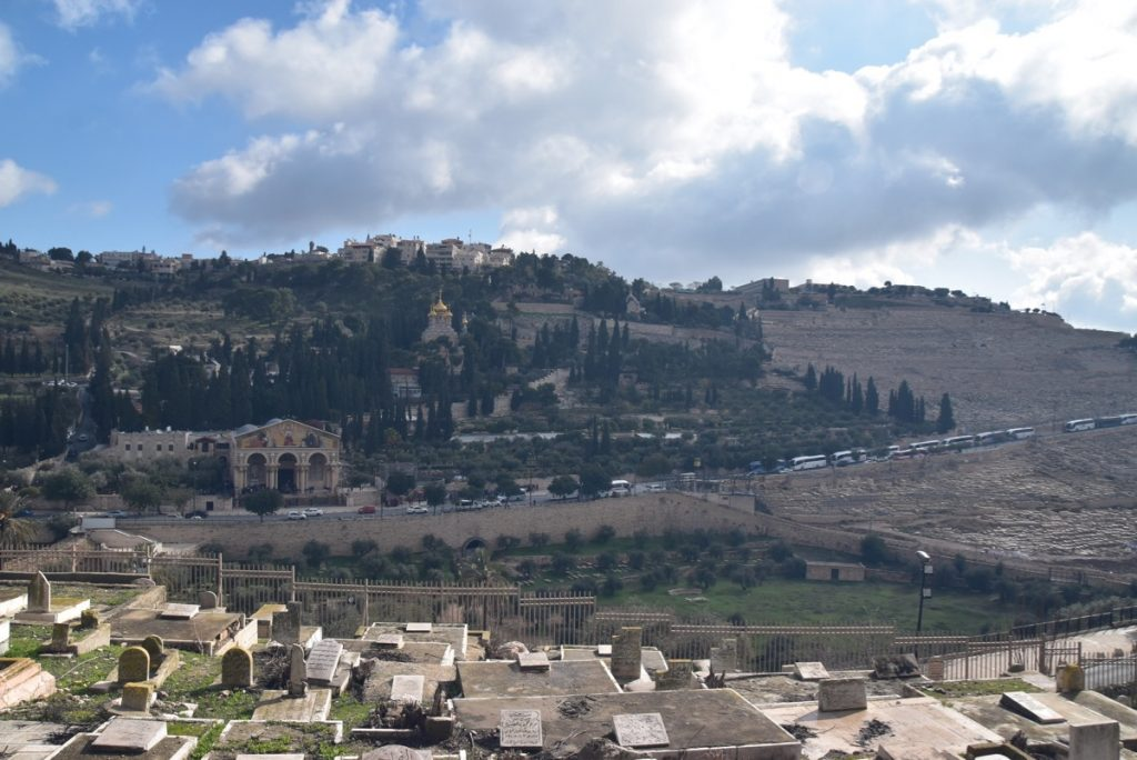 Jerusalem Mt. of Olives Jan 2020 Biblical Israel Tour with John DeLancey