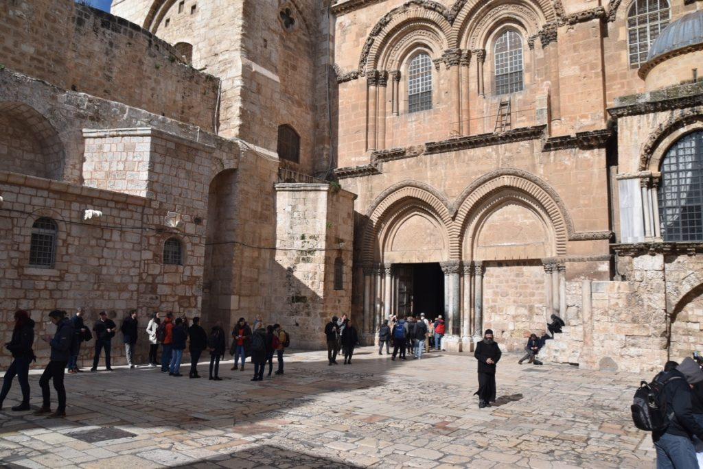 Jerusalem Holy Seplucher Jan 2020 Biblical Israel Tour with John DeLancey