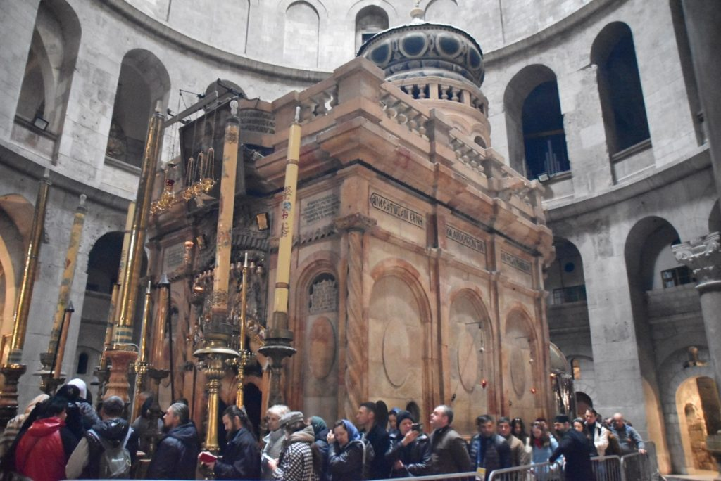 Jerusalem Holy Seplucher Jan 2020 Biblical Israel Tour with John DeLancey