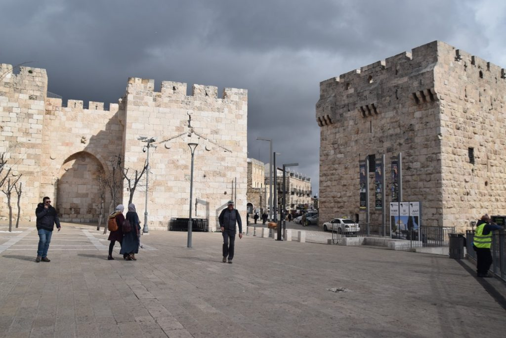 Jerusalem Jaffa Gate Jan 2020 Biblical Israel Tour with John DeLancey