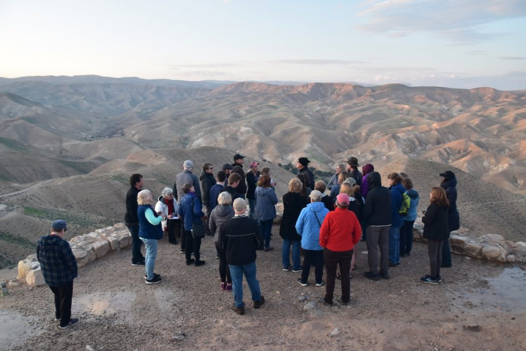 Wadi Qelt Jan 2020 Israel Tour Group with John DeLancey & BIMT