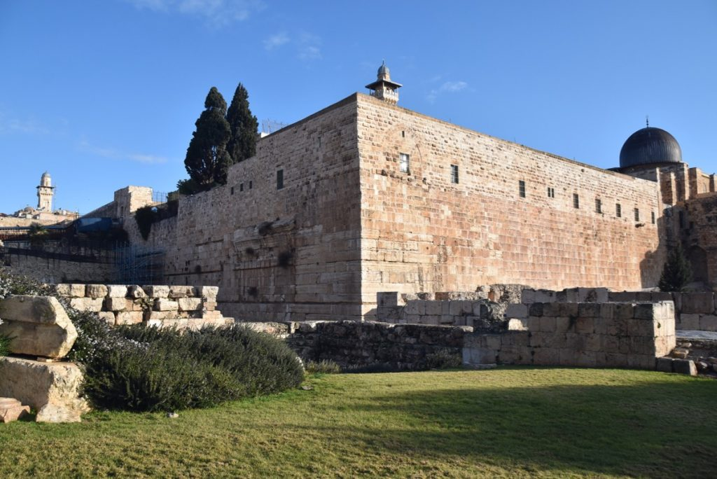 Jerusalem south wall Jan 2020 Israel Tour with John DeLancey