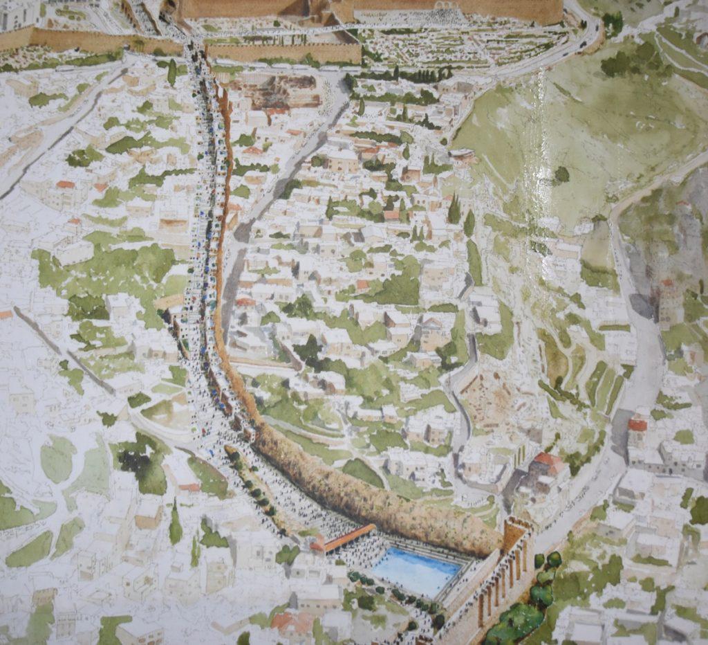 Jerusalem Drainage tunnel Jan 2020 Israel Tour with John DeLancey