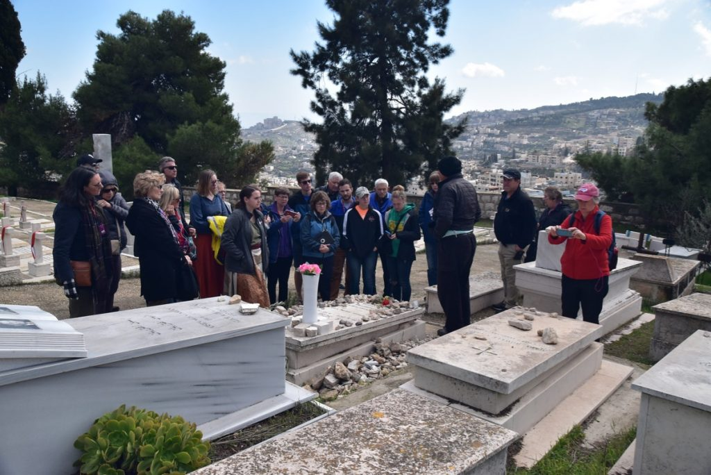 Jerusalem Schindler's Grave January 2020 Israel Tour with John DeLancey of Biblical Israel Ministries & Tours