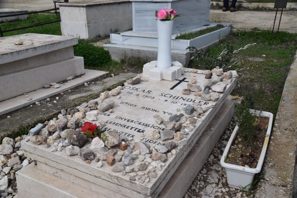 Schindler's grave January 2020 Biblical Israel Tour with John DeLancey