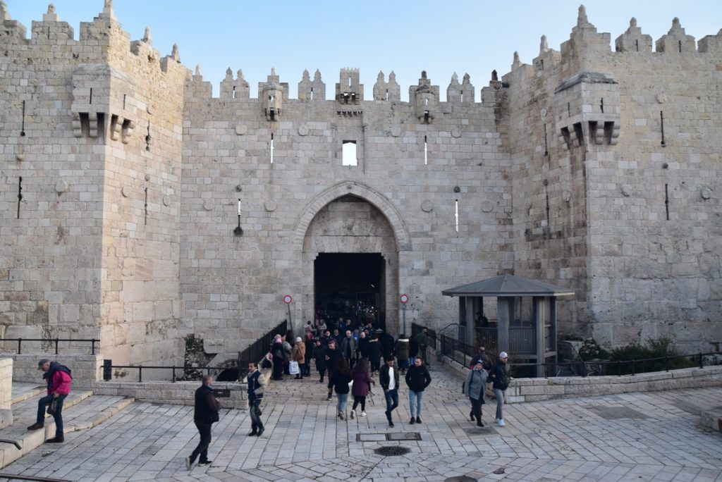 Jerusalem Old City Damascus Gate January 2020 Biblical Israel Tour with John DeLancey