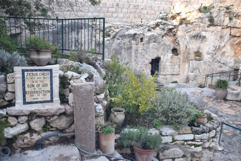 Jerusalem Garden Tomb January 2020 Biblical Israel Tour with John DeLancey