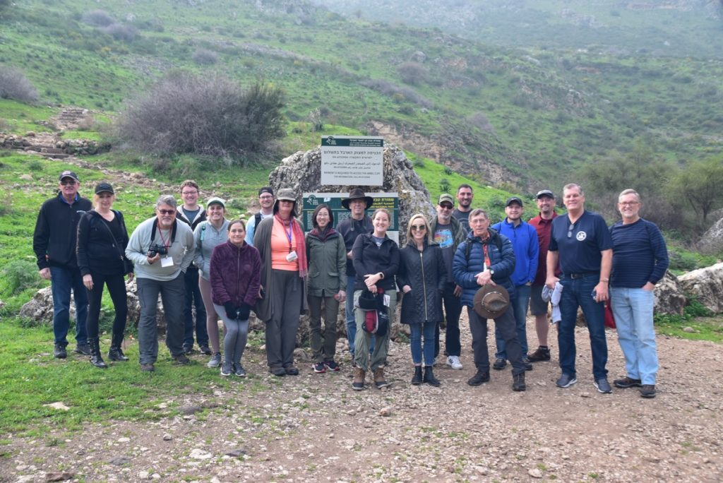 Arbel Feb 2020 Israel Tour Group, with John DeLancey