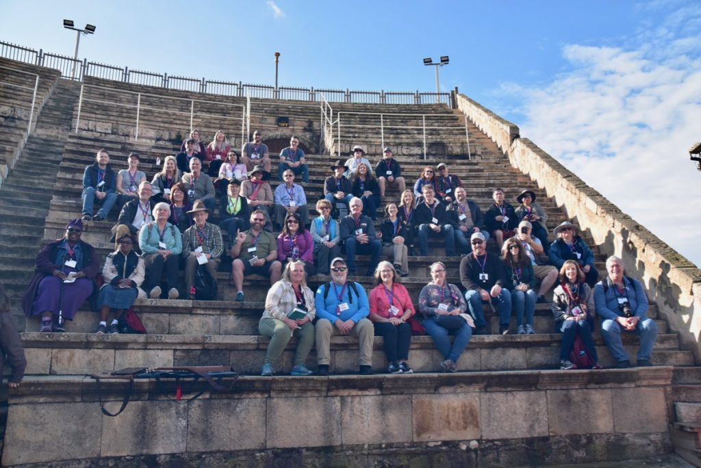 Caesarea Feb 2020 Israel Tour Group, with John DeLancey
