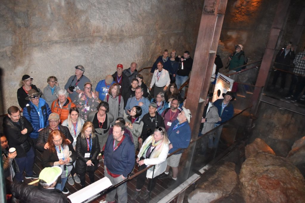 Warren's shaft Feb 2020 Israel Tour Group, with John DeLancey