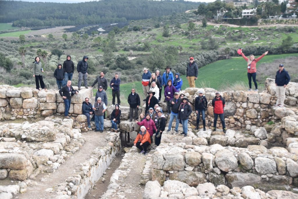 Gezer Feb 2020 Israel Tour Group, with John DeLancey