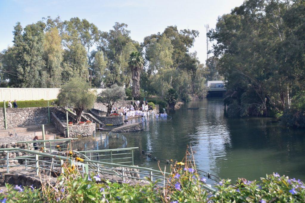 Jordan River baptism Feb 2020 Israel Tour with John DeLancey